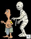Mummy tapping man on shoulder