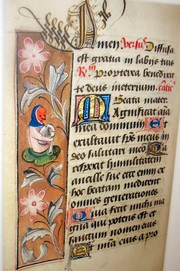 Medieval manuscript sample during our class at the State Library