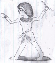 Egyptian figure by Edy