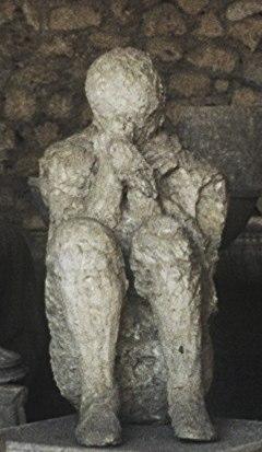 Pompeii plaster figure