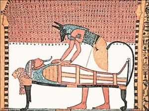 Anubis-attending-the-mummy-of-Sennedjem wwwfreeclipartnowcom pd