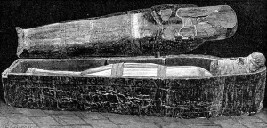 drawing of mummy coffin public domain image from karenswhimsycom