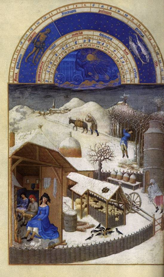 February from Les Tres Riches Heures
