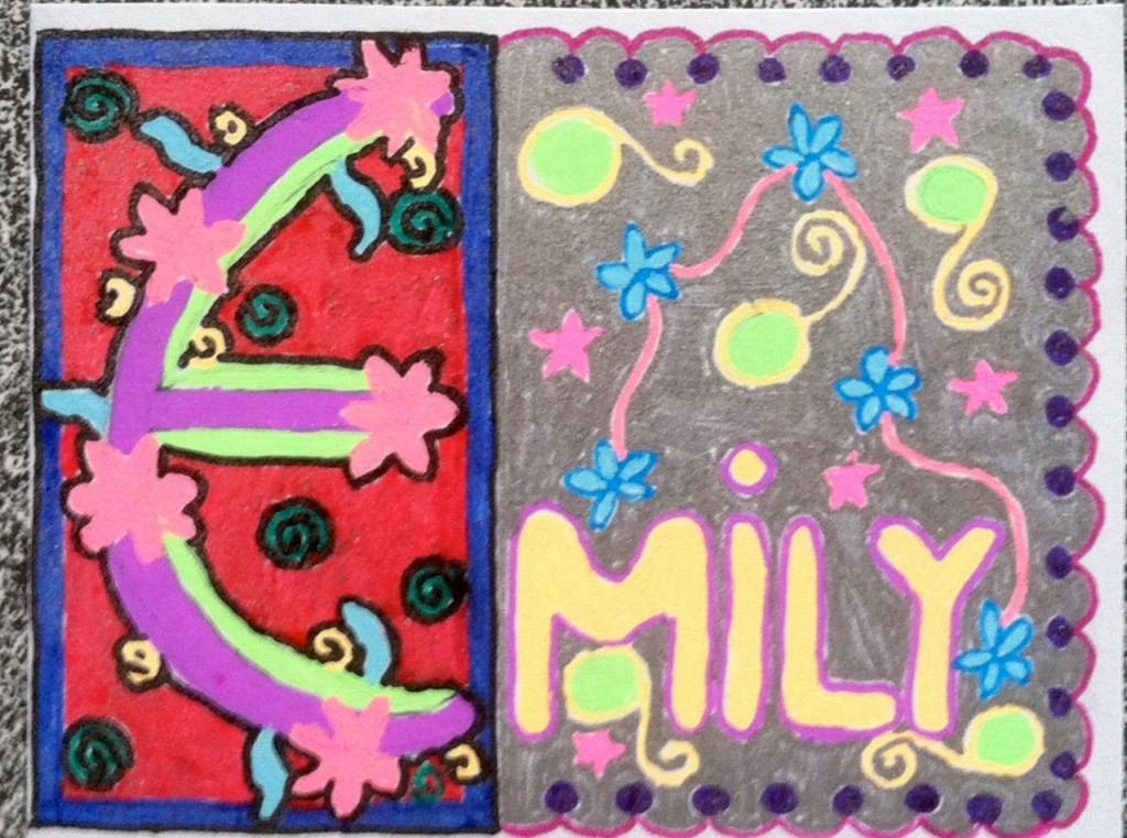 Emily's finished product is a tribute to the artistry of the 7X scriptorium.